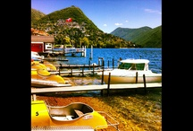Sunshine, and a dive into the blue / Colors of Lugano
