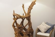 Teak Root Floor Lamps / A truly unique and exciting new lighting range with visually stunning pieces. Any of these fabulous new lamps in the collection would create a theatrical mood for your living space and definitely a talking piece. www.rustichouse.co.uk