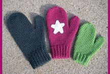 Crochet gloves, mittens and handwarmers