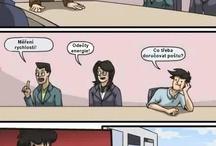 Vtipy a komiksy