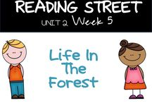 U2W5-Life in the Forest-Reading Street / Author's Purpose, Descriptive Writing, Singular and Plural Nouns, Long u words u_e, Long e words e_e,  inflectional ending ed