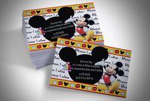 Convites Mickey Mouse / Convites Personalizados Mickey Mouse www.lojasuarte.com.br lojasuarte@gmail.com
