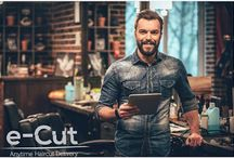 e-Cut | Mobile Barber | Mobile Hairdresser | Haircut on demand | Haircut delivery | Haircut at home / e-Cut is an on-demand grooming service empowering people everywhere to book barbers and beauty professionals for appointments right in your very own home, or the residence/saloon of your desired hair care professional.