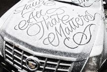 Hand Lettering and Calligraphy