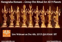 Shared Navagraha Homam / Navagraha Homam - Group Fire Ritual for 9 Planets! Live Webcast On Tomorrow Dec 9th 2015, @6.00AM IST.  The Aim of performing Navagraha Homam is to remove all the Stumbling blocks/hurdles in person life to attain Ayur-Life, Arogya-Health and Iswaryam-Wealth.  Book Now: http://goo.gl/81orH4   http://goo.gl/4anW4L
