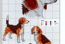 Beagle / Kruissteek patroon