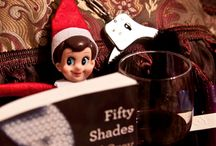 My Elf on the Shelf / I bought one to poke fun at the bf. He thinks they're creepy but I think they're cute.