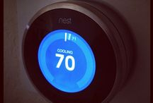 Nest Learning Thermostat / Nest Learning Thermostat -Comfort. Turn it up. Turn it down. Nest creates a custom schedule when you change the temp. -Savings. Nest adjusts itself when you're out so you don't waste electricity cooling an empty home. -Connected. Control your Nest from anywhere-your smartphone, tablet or laptop.   / by Reliant Energy