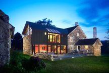 Contemporary farmhouse architecture