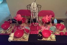 Spa Parties / Pink and Cheetah print SPArty