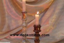 Silver Pillar Candle Sticks