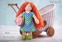 Blue Almond Dolls / The board is about waldorf dolls that I make myself.