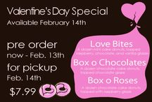 Valentine's Donuts / Cute lovable thoughts from Mighty-O Donuts for Valentine's Day and beyond.