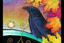 As the Crow Flies / In honor of the black birds that fill the trees around my home.  You are mysterious, playful, and perhaps a bit smarter than we are even aware. / by Laurie Farmer-Heaton