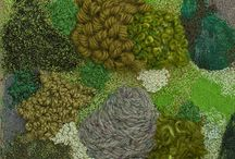 moss in fabric