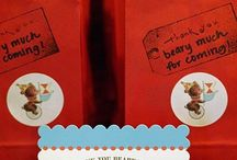 Teddy Bear party packs/thank-yous / Thanks
