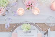 Trouwerij decoratie tafels