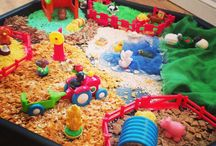 Tuff Spot Tray ideas / A collection of sensory play ideas surrounding the sensory world of tuff spot trays. Some great ideas for use on the tuff spot trays from our site and around the globe.