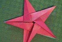 Оригами звезды