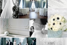 Blue/ black & white wedding