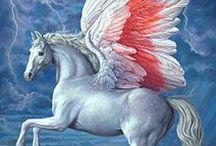 Mito. Seres fantásticos. Pegaso. Esfinge. Centauros. Grifos. Unicornios y otros seres mitológicos / Mitología. Seres fantásticos. Pegaso. Esfinge (Sphix). Centauros. Grifos. Quimera. Unicornios y otros seres mitológicos / by Gabriel Navarro Martin