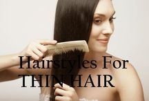 Hairstyles For Thin Hair / This board is full of different hairstyles that work for me and my extremely thin hair :)