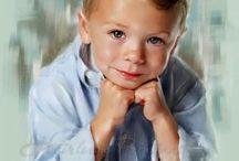 Детские портреты художницы Джилл Гарл.