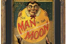 Man in the moon & vintage circus