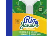 Rio de Janeiro Carnival Suite / Personalized Rio Festival collection versatile for any type of club/association or organization.