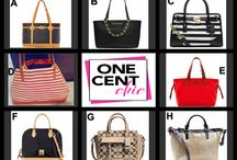 Fashion Friday at OneCentChic 6-20-14 / tonight at 10 PM Great selection of designer handbags