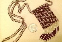 Beaded purse necklace