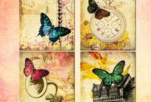 Butterflies in Decoupage. Бабочки в декупаже.