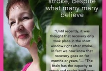 Stroke Recovery / Resources, research and information for those recovering from a stroke and the special people helping them get there!