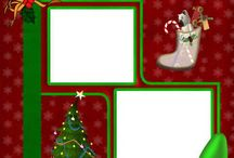 Holiday scrapbook pages
