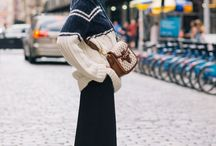 Long Skirt Outfits For Winter