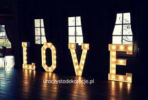 Świecące litery Napis LOVE / Świecące litery LOVE, Świecący napis LOVE
