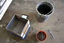 DIY Concrete Plantars