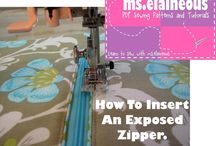 Quilting & Sewing - zippers