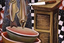 PAINTINGS I / Oils, Acrylics, Egg Tempera and other opaque paints can be found here.  An occasional watercolor might be found here if I am uncertain of a painting's medium. / by Steve Frenkel