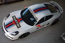 Porsche Cayman GT4 / Martini / Satin Pearl.