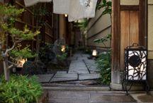 玄関、庭、植木