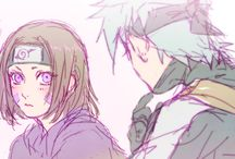 Kakarin / Pins with kakashi and rin as a couple