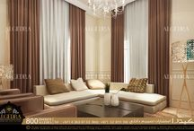 Seating Area  / ALGEDRA provides professional designs for all types of tastes for residential projects.  Our intelligent designers will start with the conceptual planning and development to provide all the important drawings.