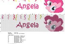 Nomi punto croce My Little Pony con Pinkie Pie / Nomi punto croce My Little Pony con Pinkie Pie