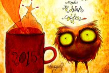 What my #Coffee says to me 2015© / Caffeinated illustrations for the love of coffee. The series from from 2012, 2013 and now into 2014 with a total of 1096 caffeinated illustrations, to December 31, 2014. The new year 2015 opens the door to 365 days of coffee creativity. These illustrations are the intellectual property of Jennifer R. Cook© What my #Coffee says to me©