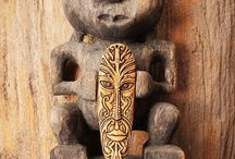 Antique ethnic Asian-Pacific carvings and statues / Antique ethnic Asian-Pacific wood and bone carvings for sale at Bali Charm, Indonesia.