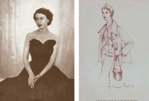 Queen Chic / Fashion sketches and dresses worn by the young Queen Elizabeth 11 in the 1950s / by Glamour Daze