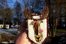 MY WORK. Brooch ''Elk''.