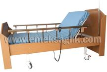 Ahşap Hasta Karyolası / 2 motorlu ahşap hasta karyolası modelleri
