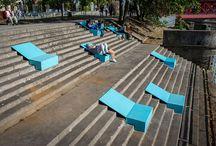 espreguiçadeiras para escadas urbanas poloneses...